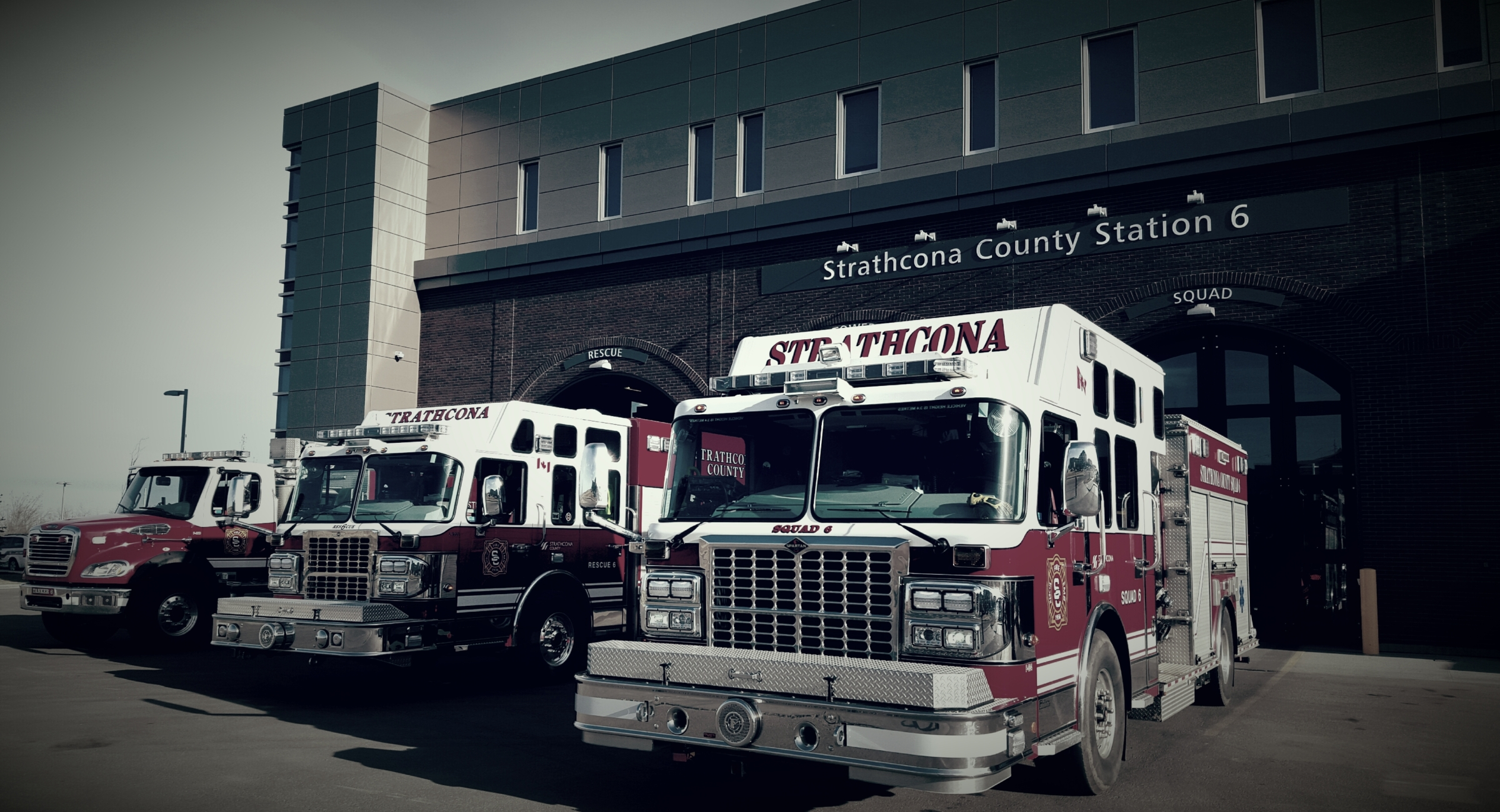 Strathcona, Strathcona County Emergency Services, Fire Truck, Station 6, Strathcona County Firefighters