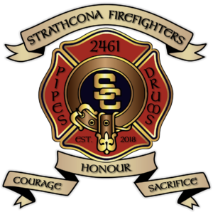 Strathcona Firefighters pipes and Drums, SFPDA, Honour, Courage, Sacrifice