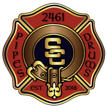 Pipes and Drums Logo, SFPDA Logo, Maltese Cross, Strathcona Firefighters